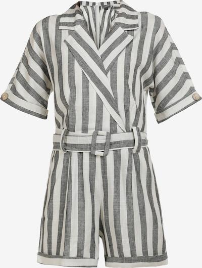 DreiMaster Vintage Jumpsuit in schwarzmeliert / weiß, Produktansicht