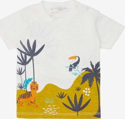 Sense Organics T-Shirt 'ODO' en bleu foncé / jaune foncé / blanc, Vue avec produit