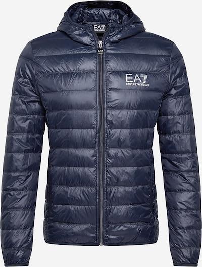 Geacă de iarnă EA7 Emporio Armani pe albastru închis / alb, Vizualizare produs