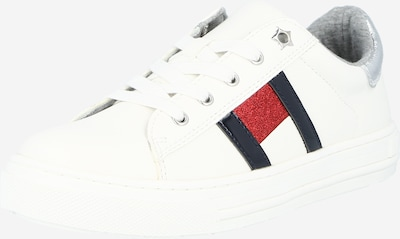 TOMMY HILFIGER Sneakers in navy / fire red / silver / white, Item view
