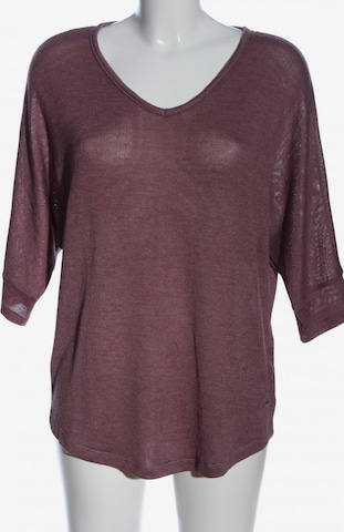 ZABAIONE V-Ausschnitt-Pullover in L in Lila