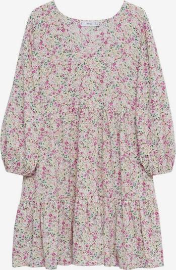 MANGO Kleid 'Pati' in nude / grün / pink, Produktansicht