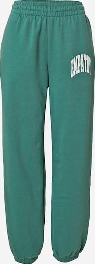 Pantaloni 'Corinna ' WEEKDAY pe verde / alb, Vizualizare produs
