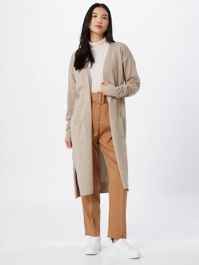 NU-IN Strickjacke 'Uneven Hem' in beigemeliert, Modelansicht