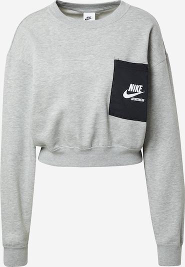 Felpa Nike Sportswear di colore grigio sfumato / nero, Visualizzazione prodotti