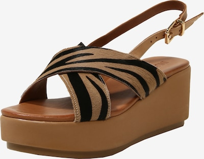INUOVO Sandalen in beige / schwarz, Produktansicht
