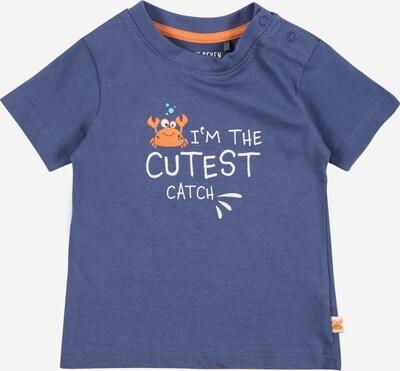 BLUE SEVEN T-Shirt en turquoise / bleu-gris / orange / blanc, Vue avec produit