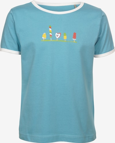 ELKLINE T-Shirt in rauchblau / rosa / weiß, Produktansicht