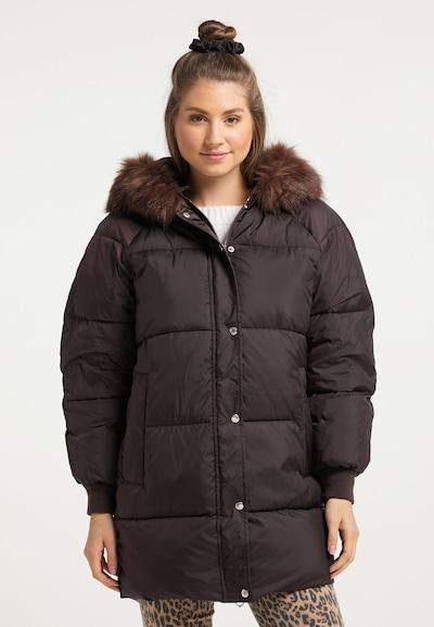MYMO Winter Coat in Dark brown, View model