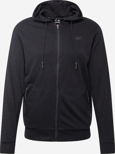 Bluză cu fermoar sport 4F pe negru, Vizualizare produs