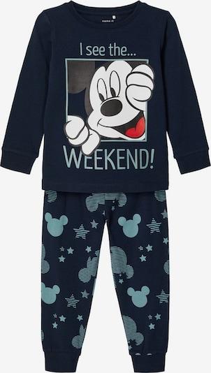 NAME IT Schlafanzug in himmelblau / dunkelblau / hellrot, Produktansicht