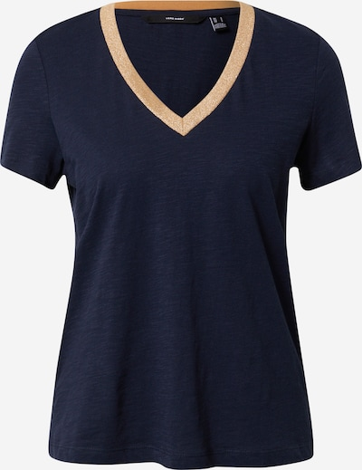 Tricou 'SAYA' VERO MODA pe bej / albastru închis, Vizualizare produs
