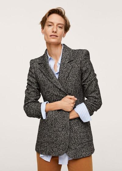 MANGO Blazer 'Luis' in Brown / Dark grey, View model