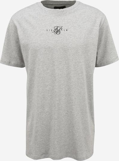 SikSilk Shirt in graumeliert / schwarz, Produktansicht