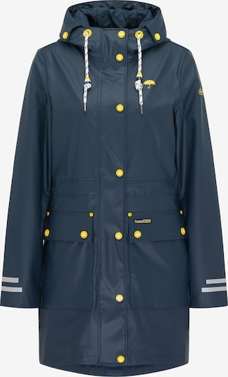 Schmuddelwedda Between-seasons coat in marine blue / Yellow / White, Item view