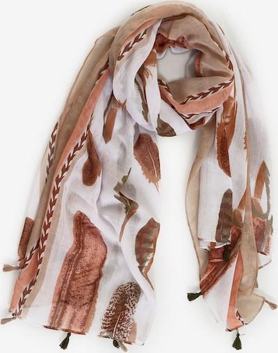 Emma & Kelly Schal mit Quastendetails in braun / mischfarben, Produktansicht