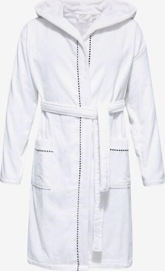ESPRIT Bademantel in dunkelgrau / weiß, Produktansicht