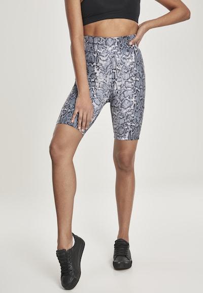 Urban Classics Leggings in grau / schwarz / weiß, Modelansicht