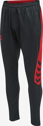 Hummel Pantalon de sport en anthracite / rouge, Vue avec produit