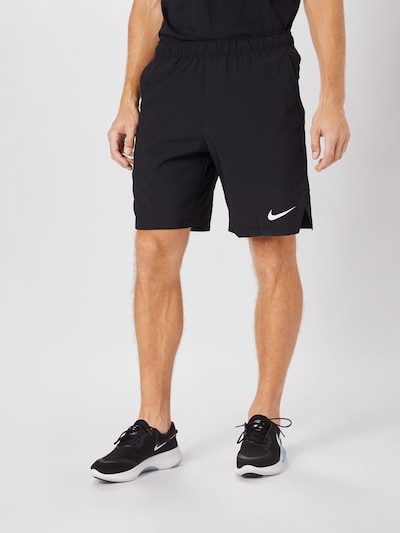 NIKE Športové nohavice 'Flex' - čierna / biela, Model/-ka