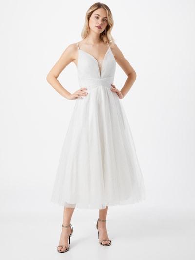 mascara Robe de soirée en blanc, Vue avec modèle