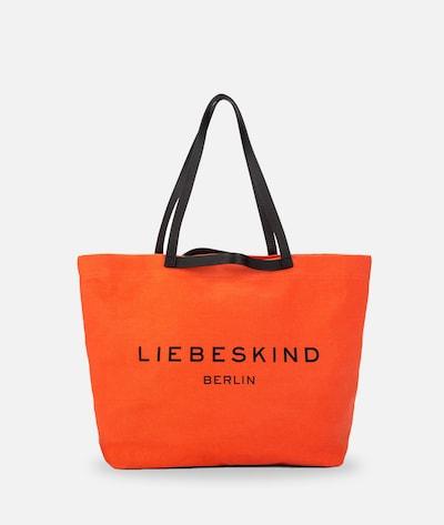 Liebeskind Berlin Shopper aus Canvas in orange, Produktansicht