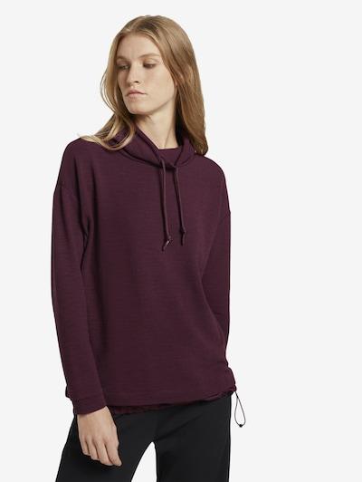 TOM TAILOR Sweatshirt in de kleur Pruim: Vooraanzicht