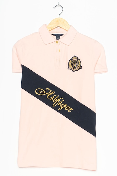 TOMMY HILFIGER Polohemd in S in rosa, Produktansicht