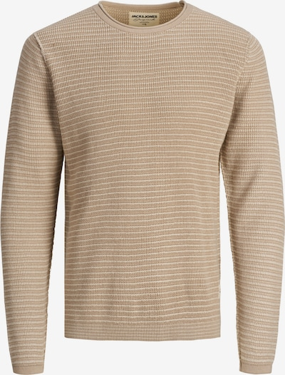 JACK & JONES Pullover 'Tim' in hellbeige / hellbraun / naturweiß, Produktansicht