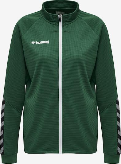Hummel Sportief sweatvest in de kleur Groen / Zwart / Wit, Productweergave