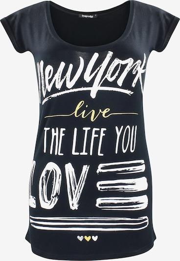 trueprodigy Shirt 'New York Live' in de kleur Limoen / Zwart / Wit, Productweergave