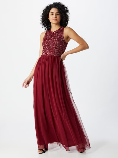 LACE & BEADS Kleid 'Linda' in burgunder, Modelansicht