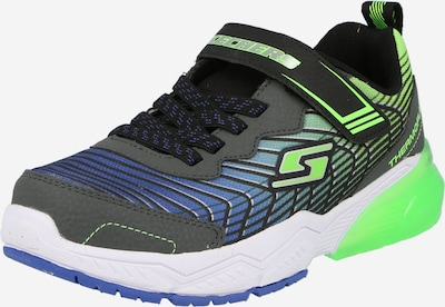 SKECHERS Baskets en bleu / gris / vert fluo, Vue avec produit