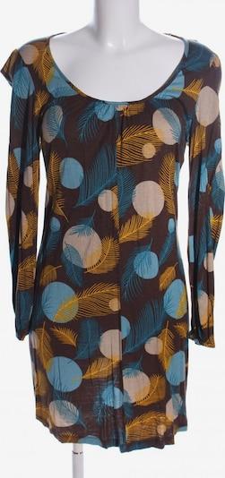 SINGLE Jerseykleid in S in blau / hellorange / wollweiß, Produktansicht