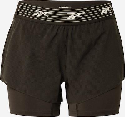 Reebok Sport Športne hlače 'Epic' | črna / bela barva, Prikaz izdelka