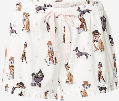 PJ Salvage Shorts in braun / rosa / schwarz / offwhite, Produktansicht