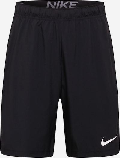 NIKE Sportbroek 'Woven' in de kleur Zwart / Wit, Productweergave