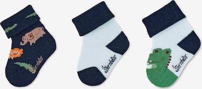 STERNTALER Socken in dunkelblau / grasgrün / weiß, Produktansicht