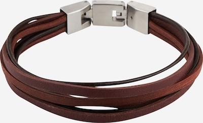 FOSSIL Náramok - tmavohnedá / strieborná, Produkt