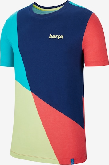 NIKE T-Shirt in blau / hellrot, Produktansicht