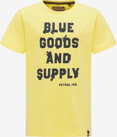 Petrol Industries Shirt in de kleur Geel / Zwart, Productweergave