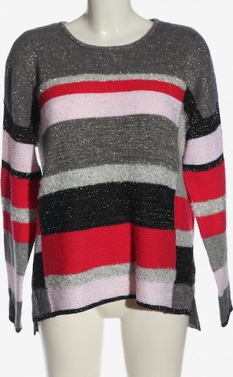 Canada Rundhalspullover in M in hellgrau / rot / schwarz, Produktansicht