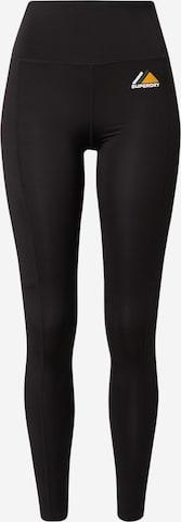 Superdry Snow Spodnie sportowe w kolorze czarny
