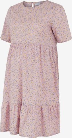 Pieces Maternity Summer Dress 'Trine' in Purple