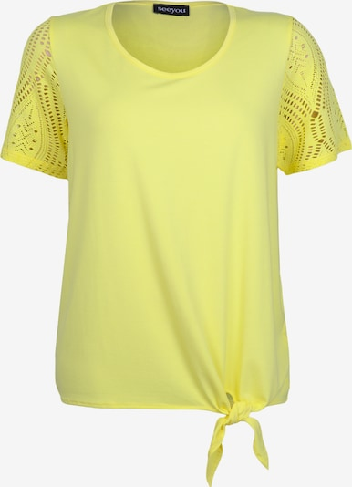 seeyou Shirt mit Knotendetail in gelb, Produktansicht