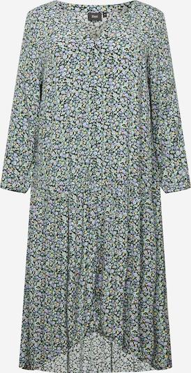 Zizzi Robe-chemise en bleu clair / jaune clair / vert / violet / noir, Vue avec produit