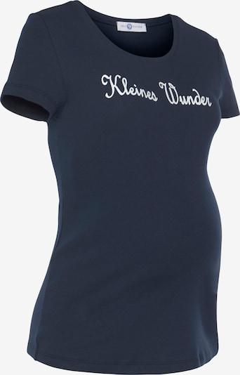 Neun Monate Umstand T-Shirt 'Kleines Wunder' in marine, Produktansicht
