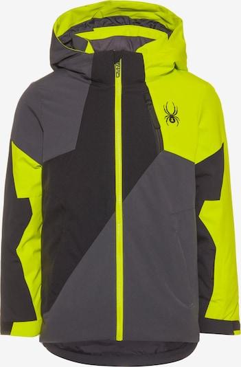 SPYDER Outdoor jacket 'Ambush' in Dark grey / Lime / Black, Item view