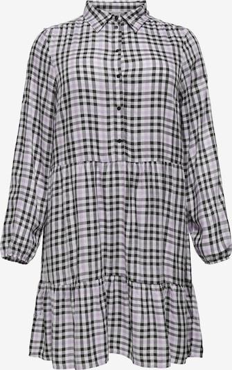 ONLY Carmakoma Kleid 'Diema' in pastelllila / schwarz / wollweiß, Produktansicht