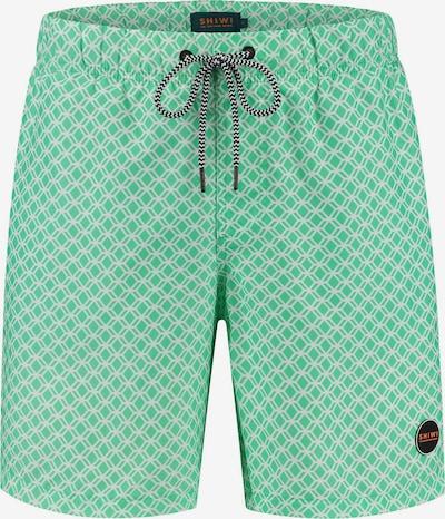 Shiwi Shorts de bain en jade / blanc, Vue avec produit